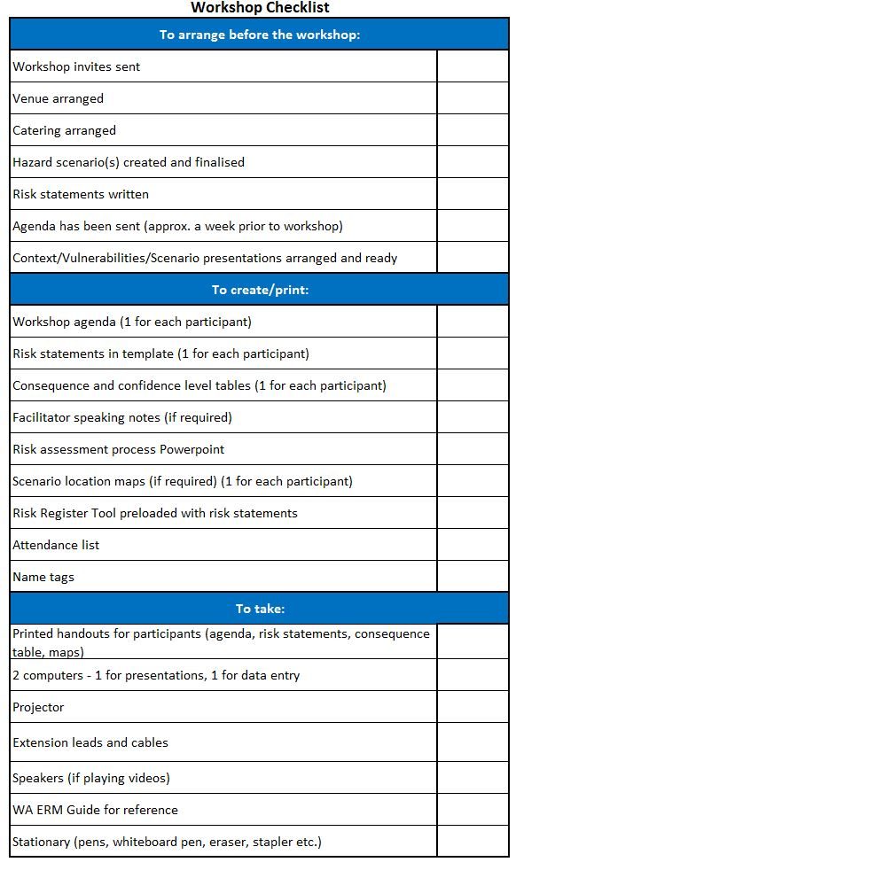 venue selection consequence table