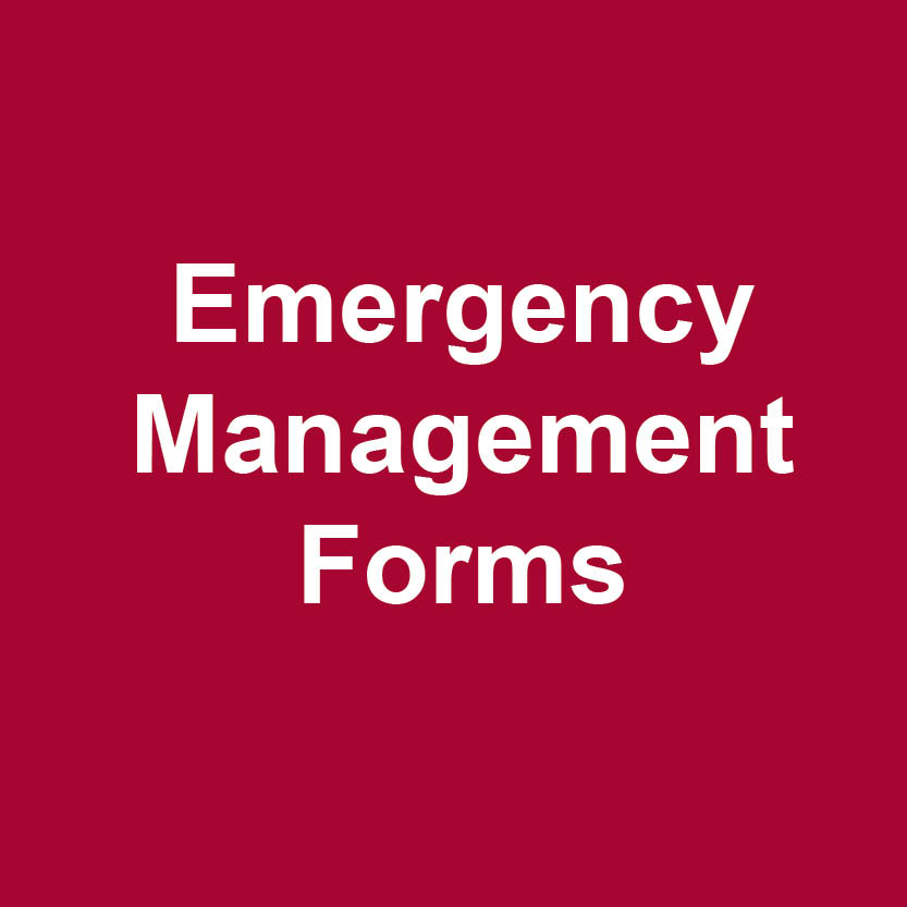 Emergency management forms logo