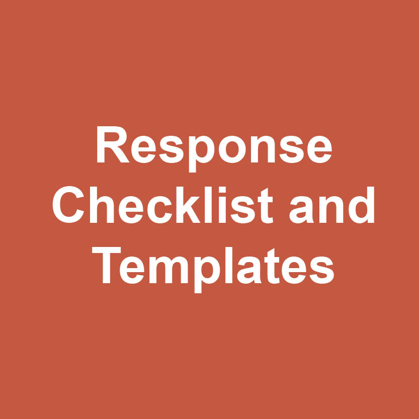 Response checklists and templates logo